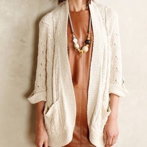 Anthropologie Sparrow Cable Knit Slouchy Cardigan